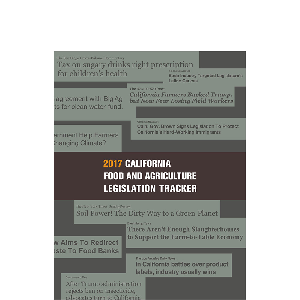 2017 California Food And Agriculture Legislation Tracker
